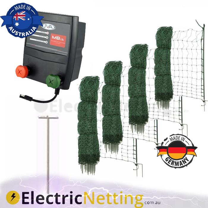 200m electric poultry netting jva kit