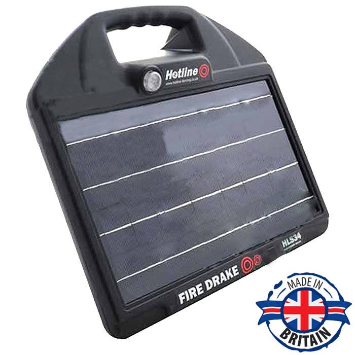 Hotline HLS34 Fire Drake Solar Electric Fence Energiser