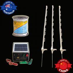 solar powered fence kit