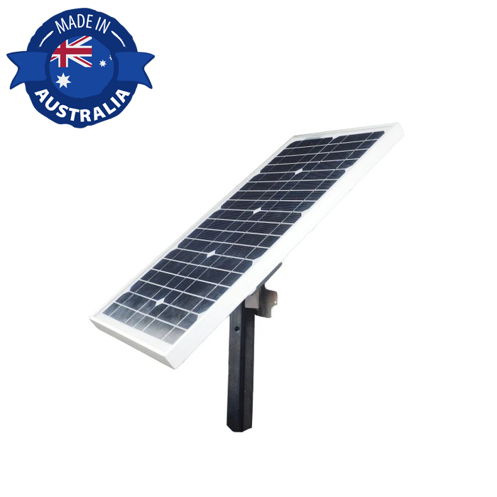 JVA MB1.5 Electric Fence Energizer with Solar Kit front panel