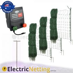 poultry netting kit battery mains 150m